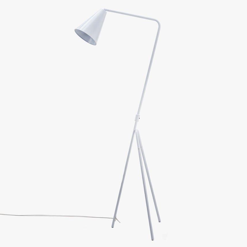 Lámpara de Pie Retro Trípode Blanco