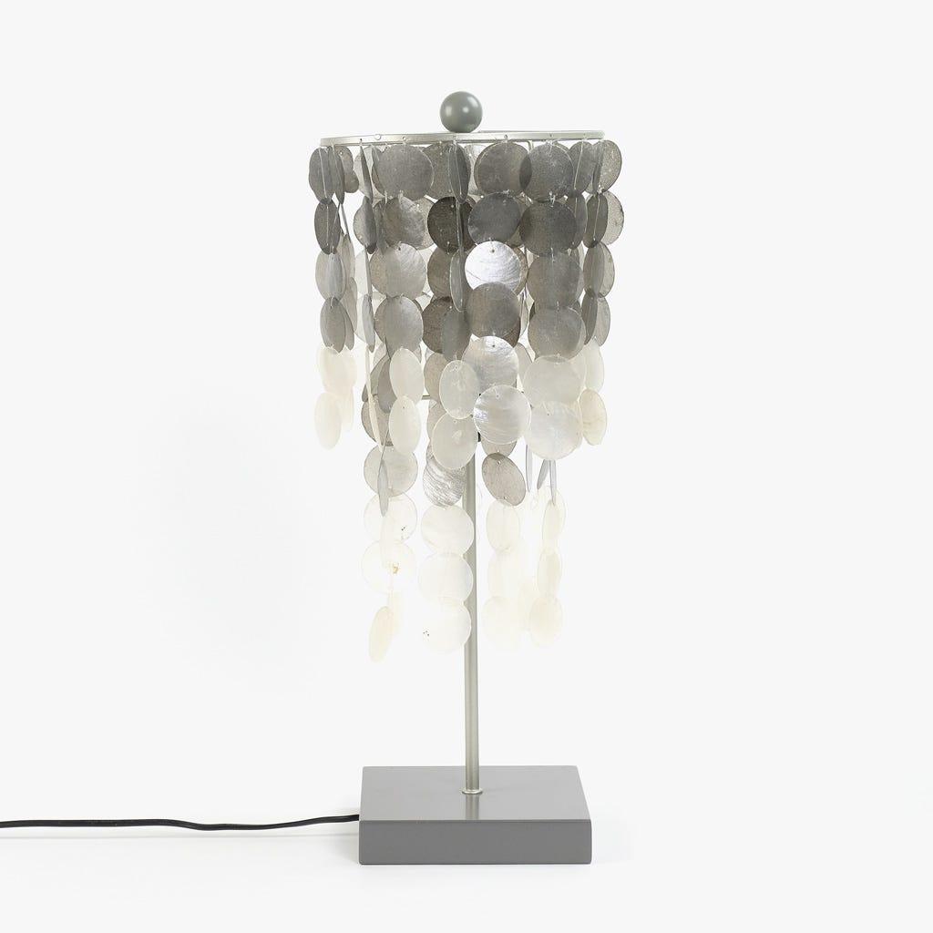 Lámpara de Mesa Conchas Plata 25 cm