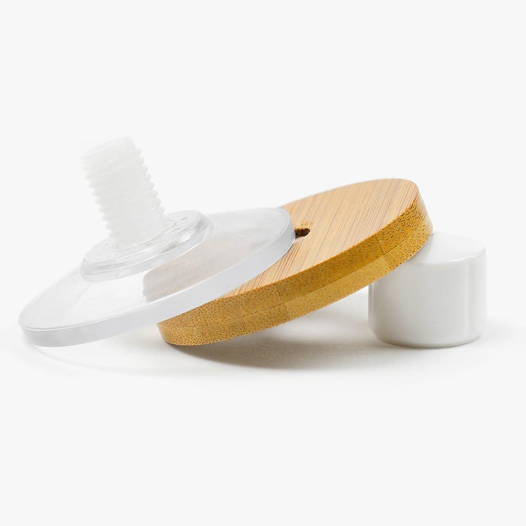 Saboneteira Branco + Bambu 26 cm