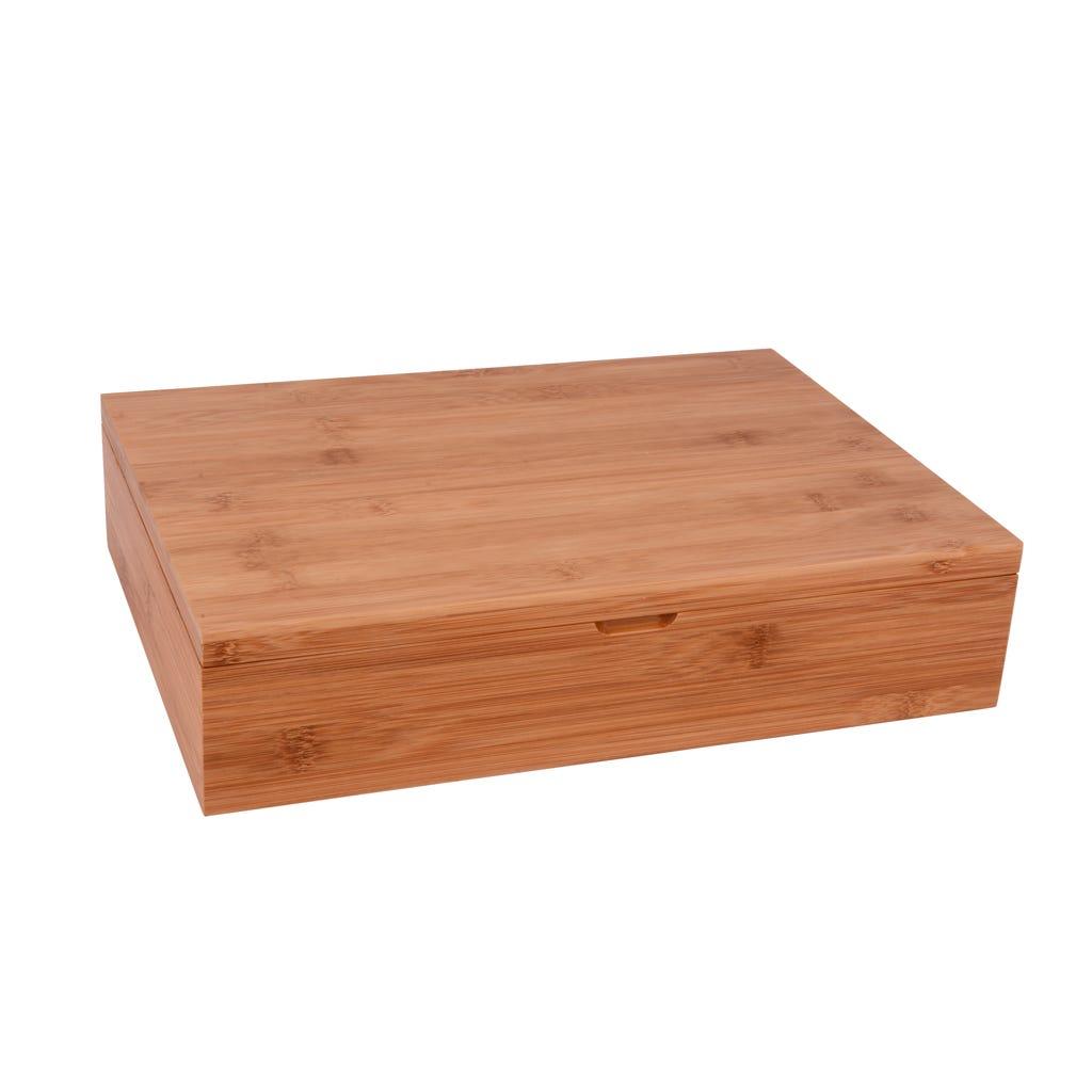 Caixa Bambu com 6 divisórias