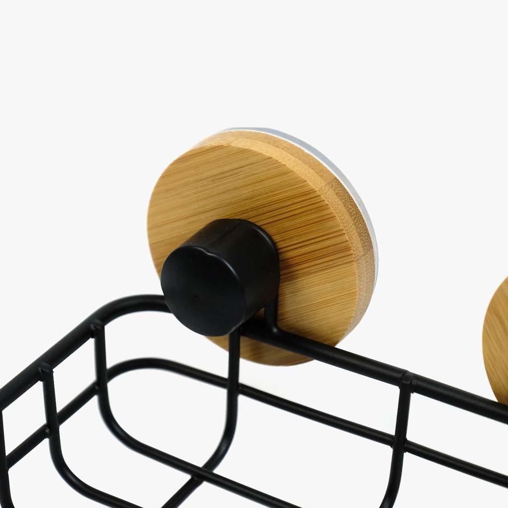 Saboneteira preta Bambu 14,5 cm