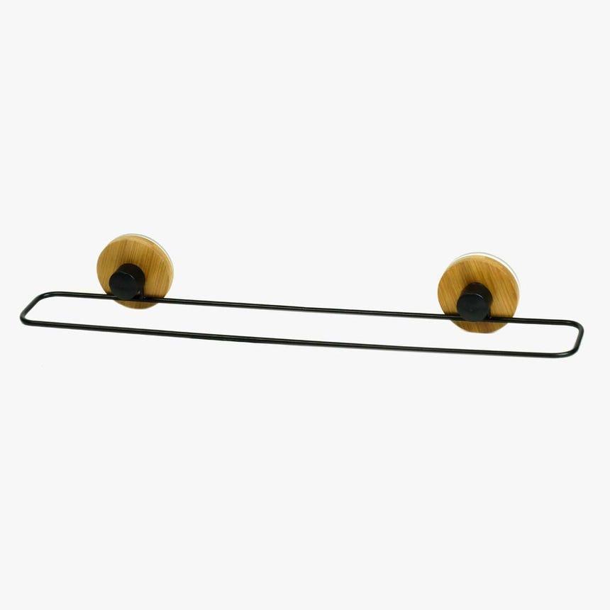 Toalheiro preto Bambu 40 cm
