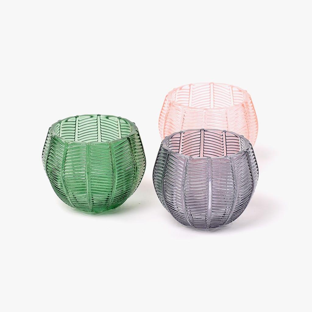 Tealight Vert 10x10x8 cm