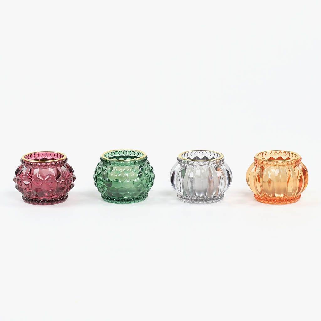 Tealight Ambar e Dourado 7x7x5 cm