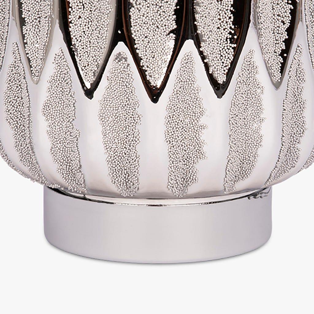 Lanterne Belize avec Lumière LED Argent 13x20 cm