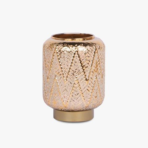 Lanterne Belize avec Lumière LED D'Or 12x16 cm