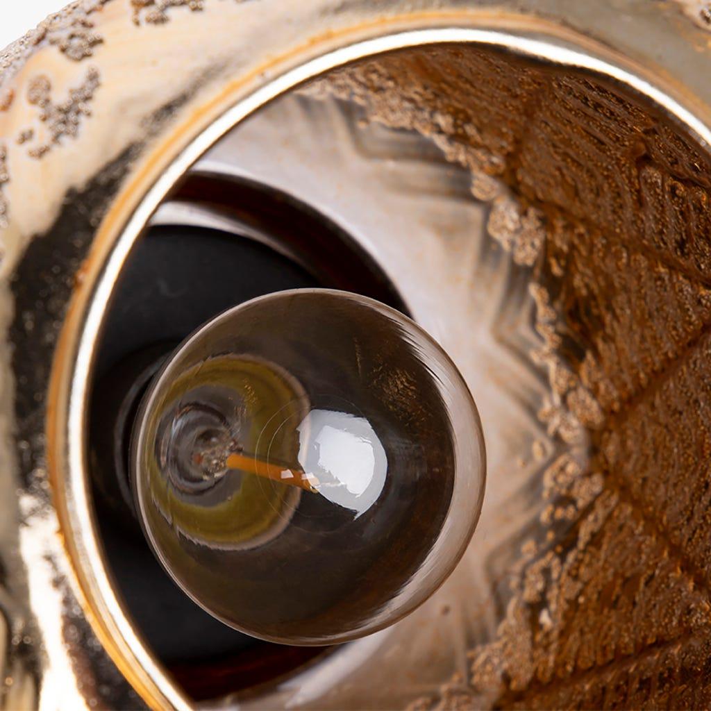Lanterne Belize avec Lumière LED D'Or 13x20 cm