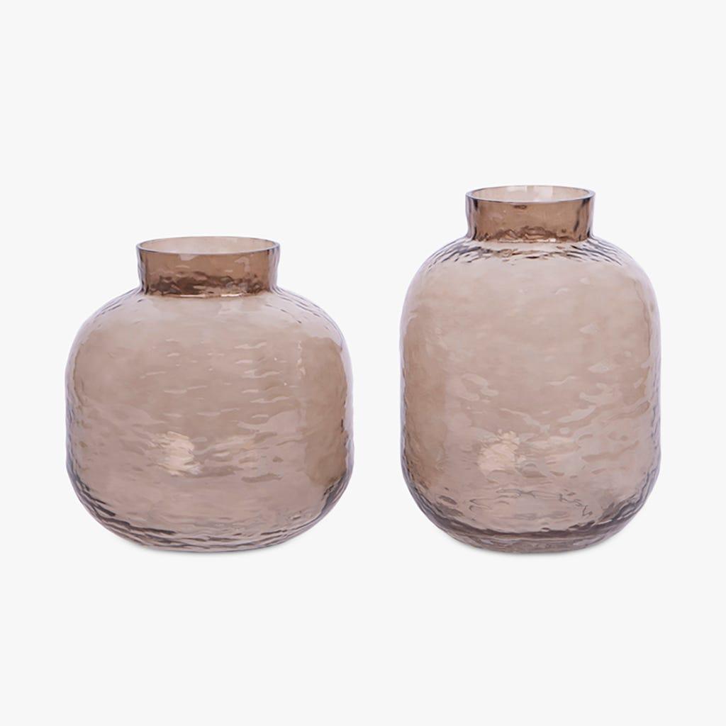 Vase Simply Martelé Gris d19x24 cm