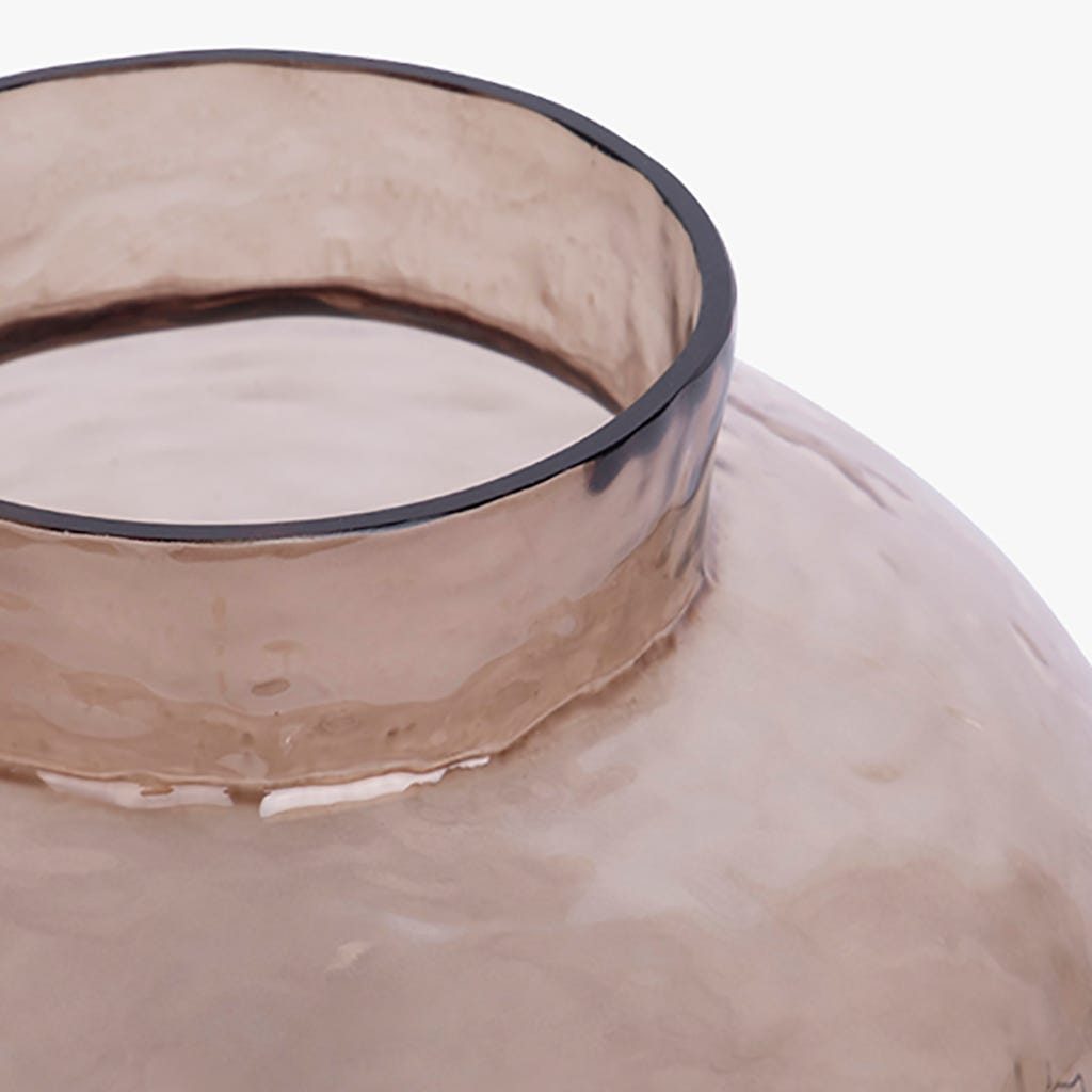 Vase Simply Martelé Gris 20x20 cm