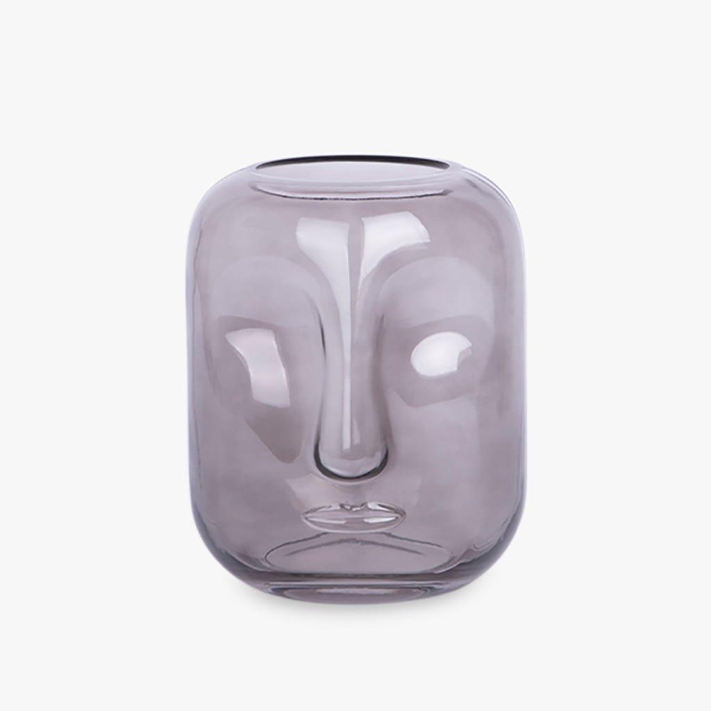 Vase Simply visage Gris 16x20 cm