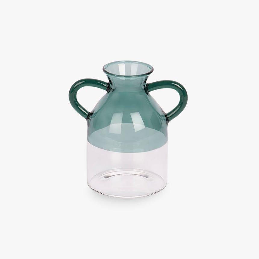 Vase Simply avec Poignées Turquoise 8x12 cm