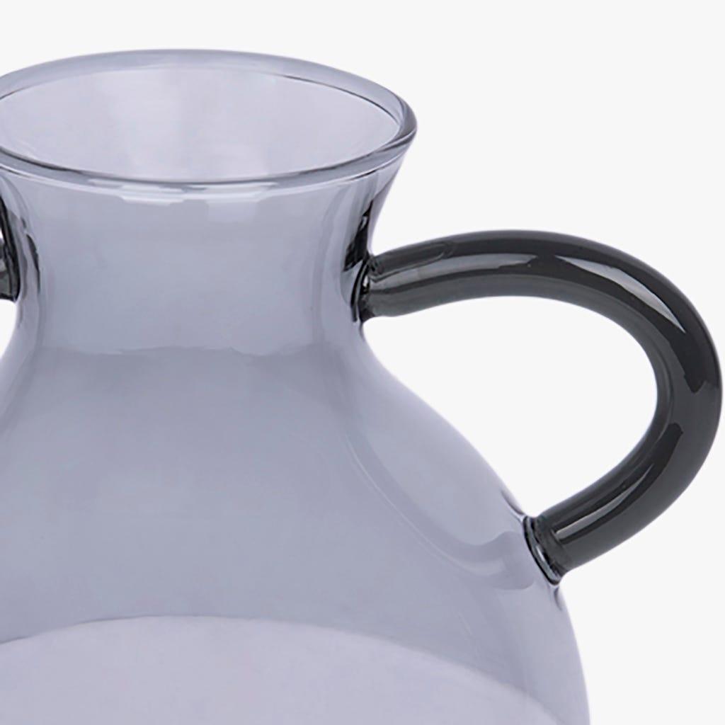 Vase Simply avec Poignées Gris 9x17 cm