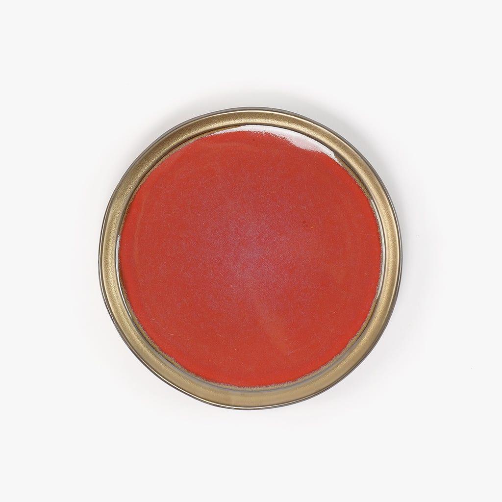Prato de Sobremesa Cairo Vermelho