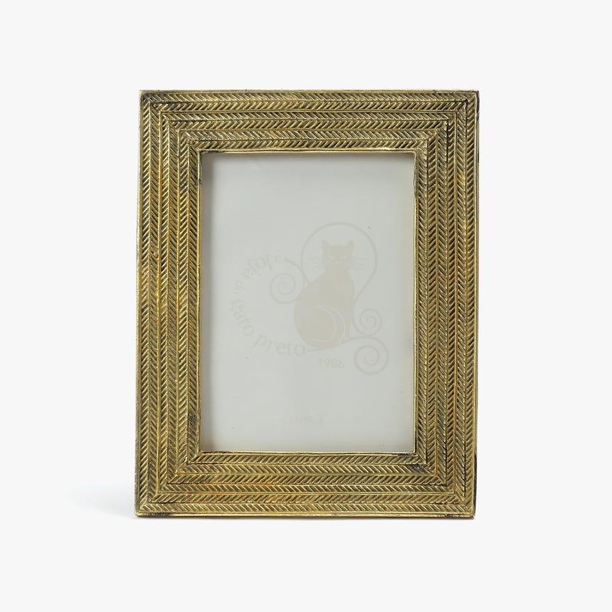 Moldura Malha Dourada 13x18 cm