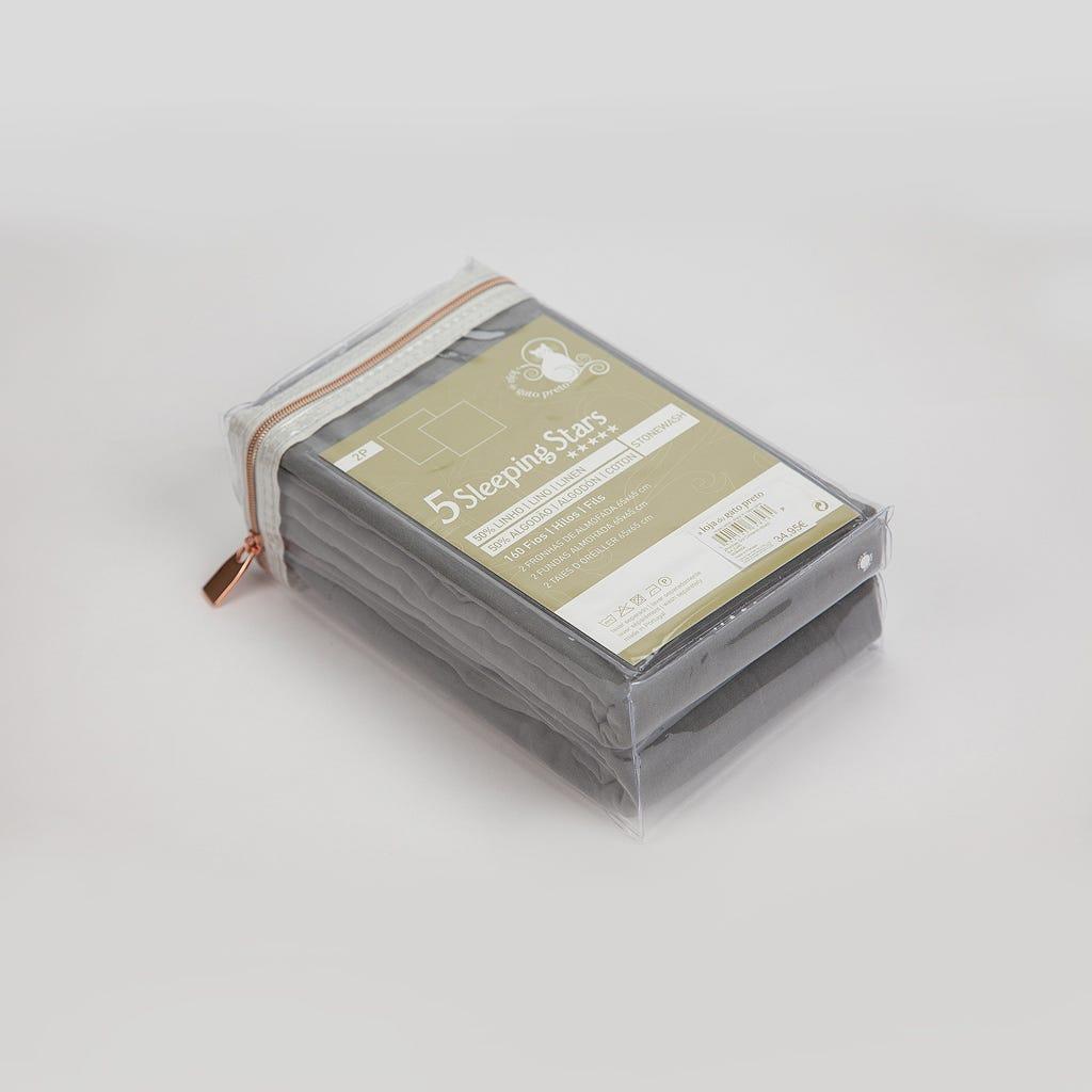 Fronha de Almofada Sol Cinza 65x65 cm (conjunto2)