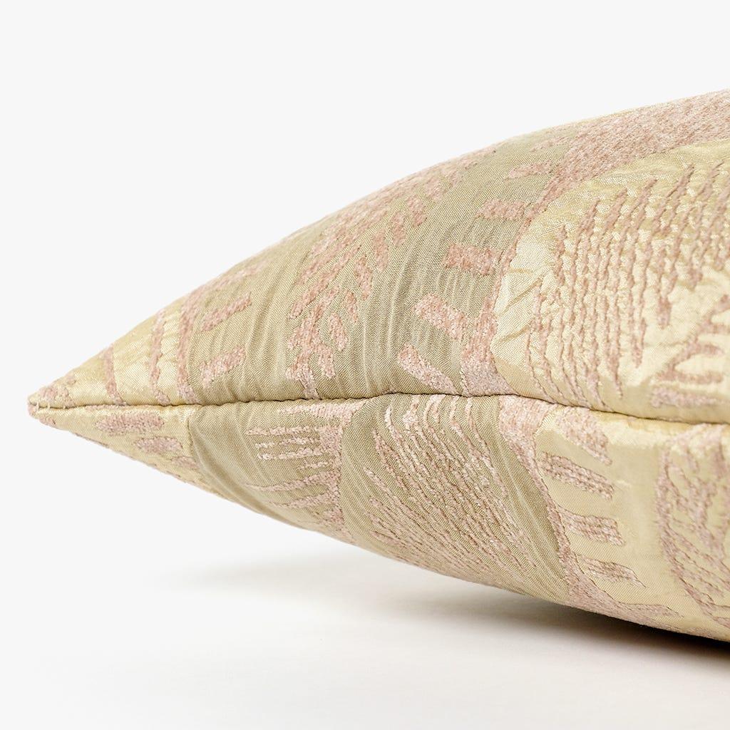 Capa de Almofada Stella Folha Blush e Natural 50x50 cm