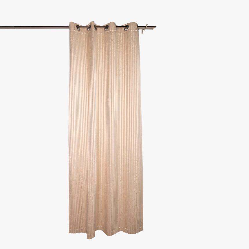 Cortinado Stella risca Bege 135x270 cm