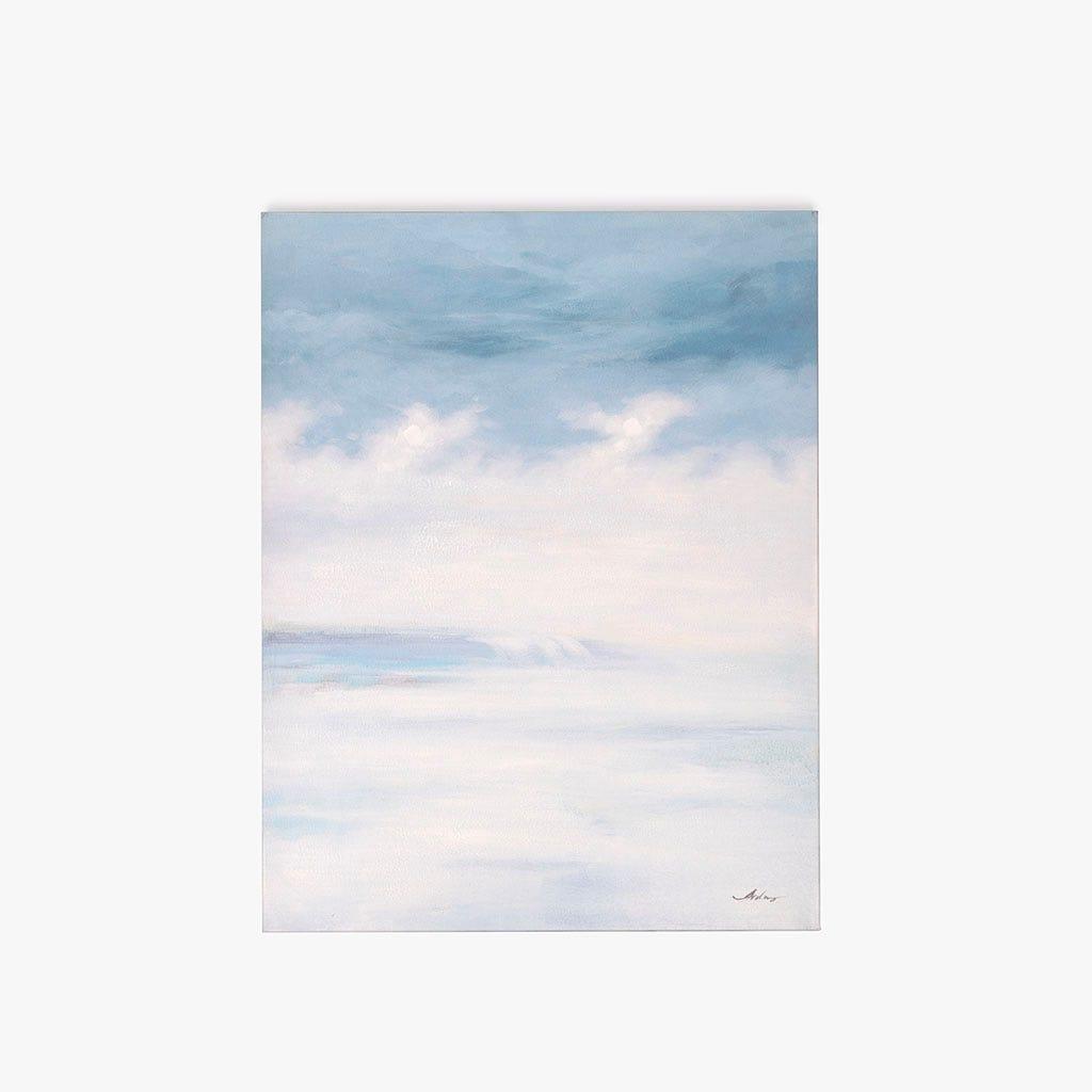 Tela abstrata azul 90x120 cm