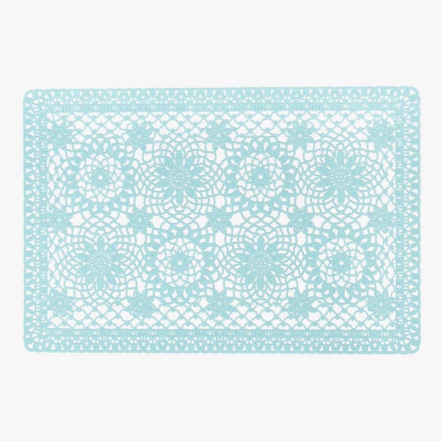 Individual Crochet Azul 30x45 cm