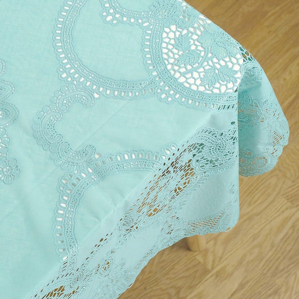 Toalha de Mesa PVC Renda Azul 152x228 cm
