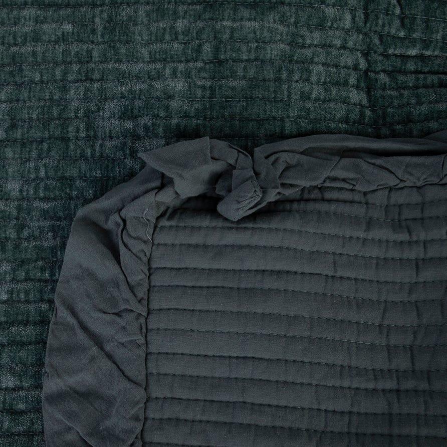 Couvrelit Himba Chenille Vert 180x250 cm