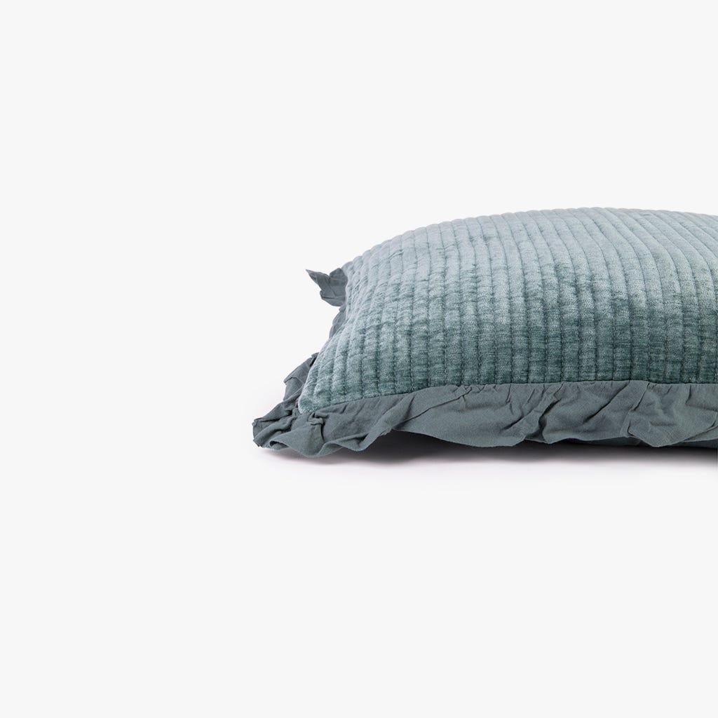 Housse de Coussin Himba Chenille Vert 50x50 cm