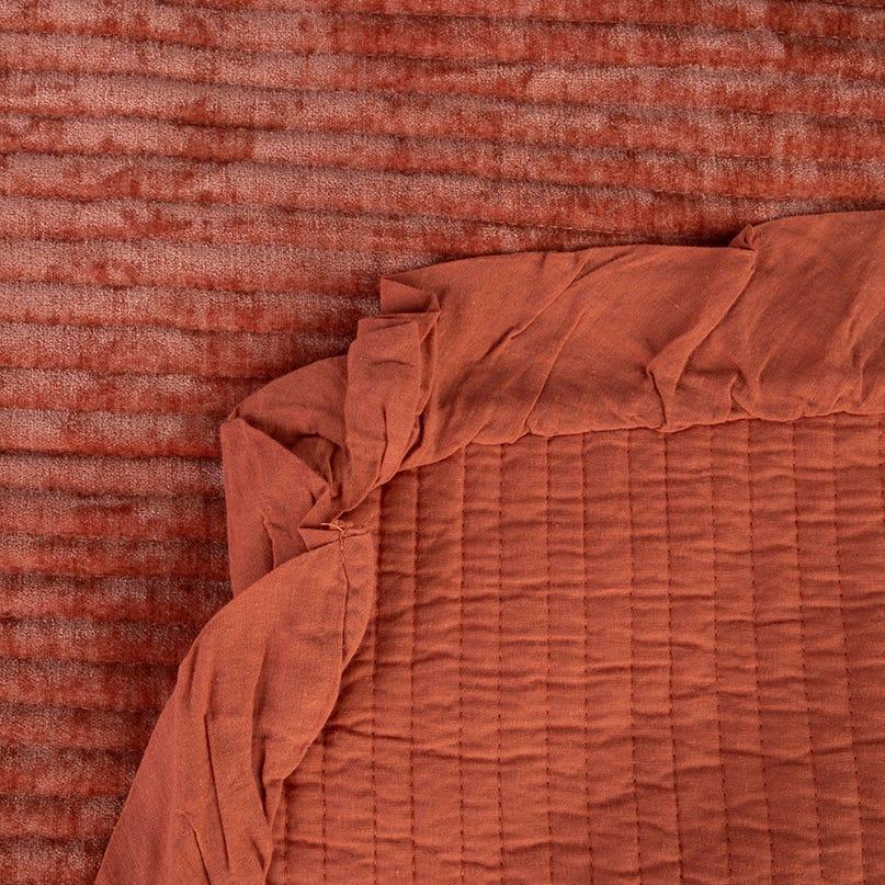 Colcha Himba chenila laranja 240x260 cm