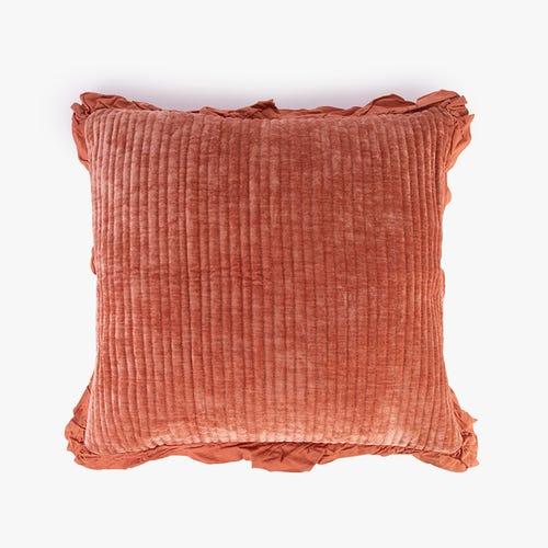 Housse de Coussin Himba Chenille Orange 50x50 cm