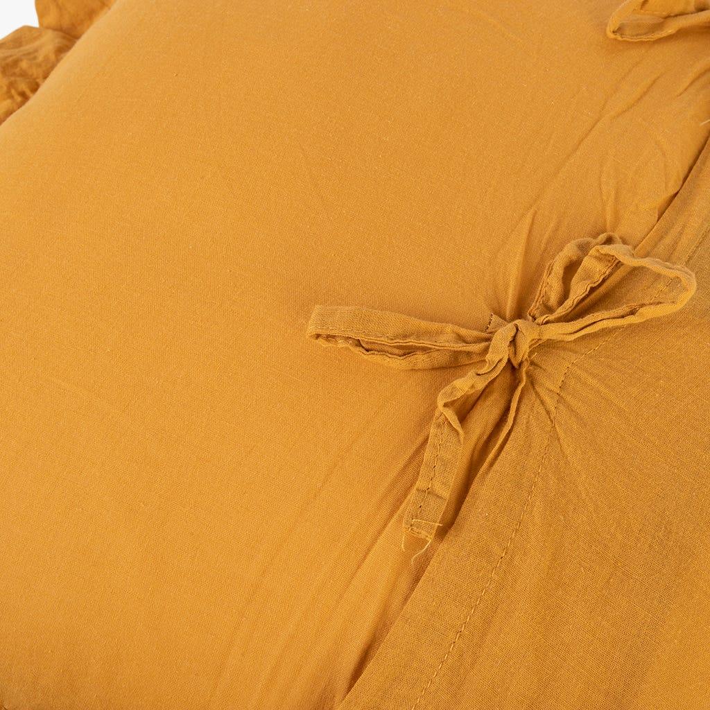 Housse de Coussin Himba Chenille Moutarde 50x50 cm