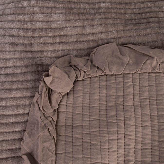 Couvrelit Himba Chenille Gris 180x250 cm