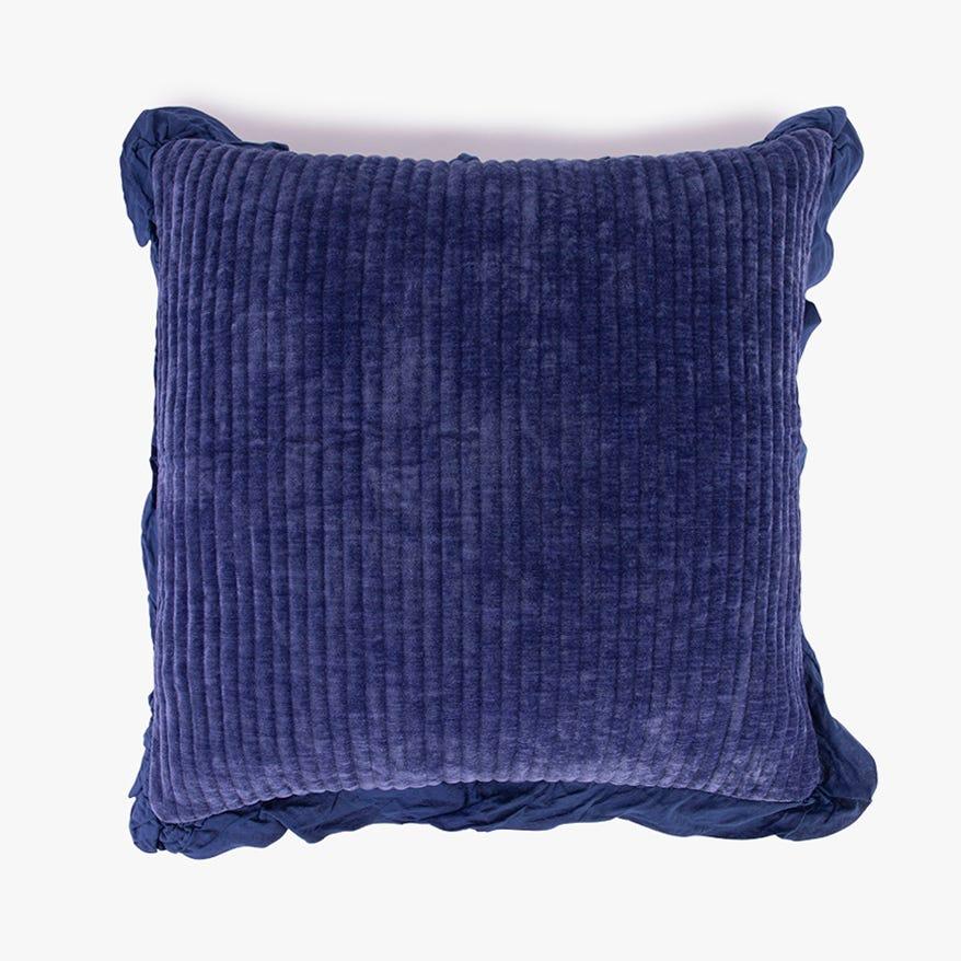 Housse de Coussin Himba Chenille Bleu 50x50 cm