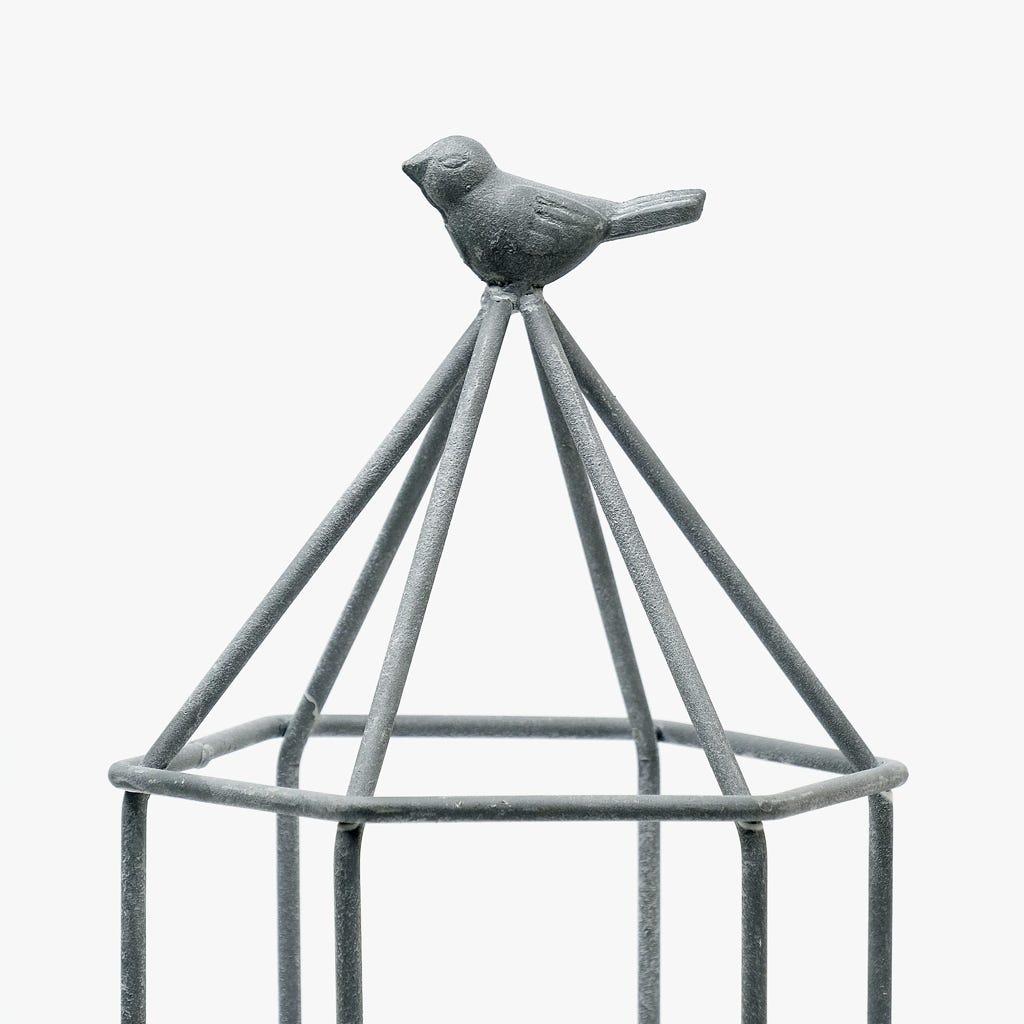 Lanterna Pássaro 22x19x42 cm