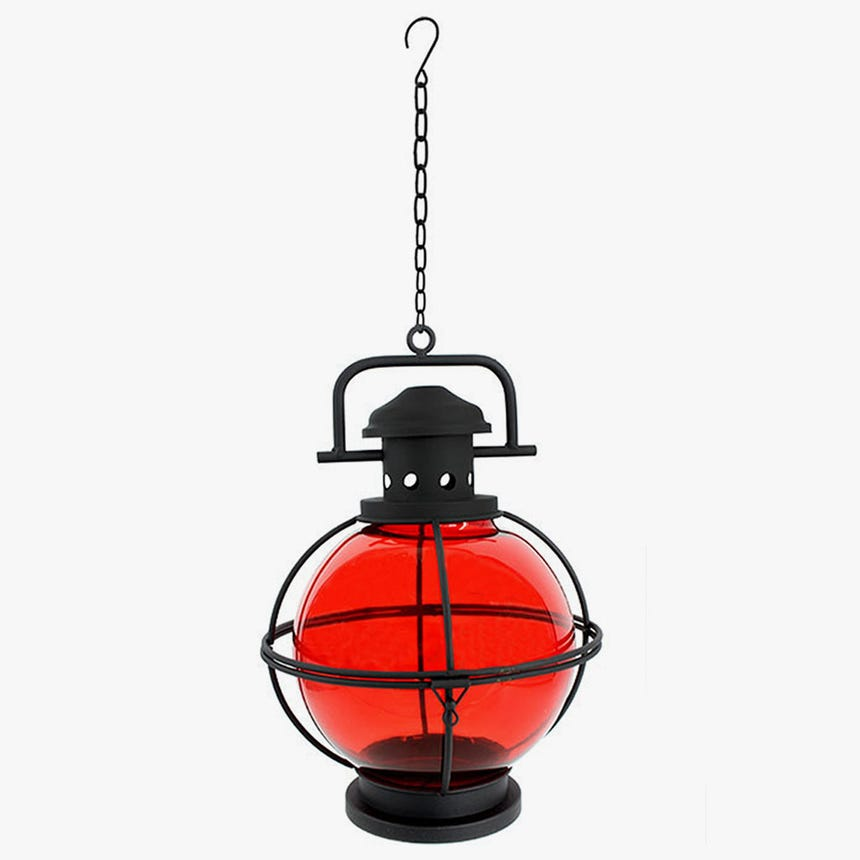 Lanterna para Pendurar Vermelha 22x31 cm