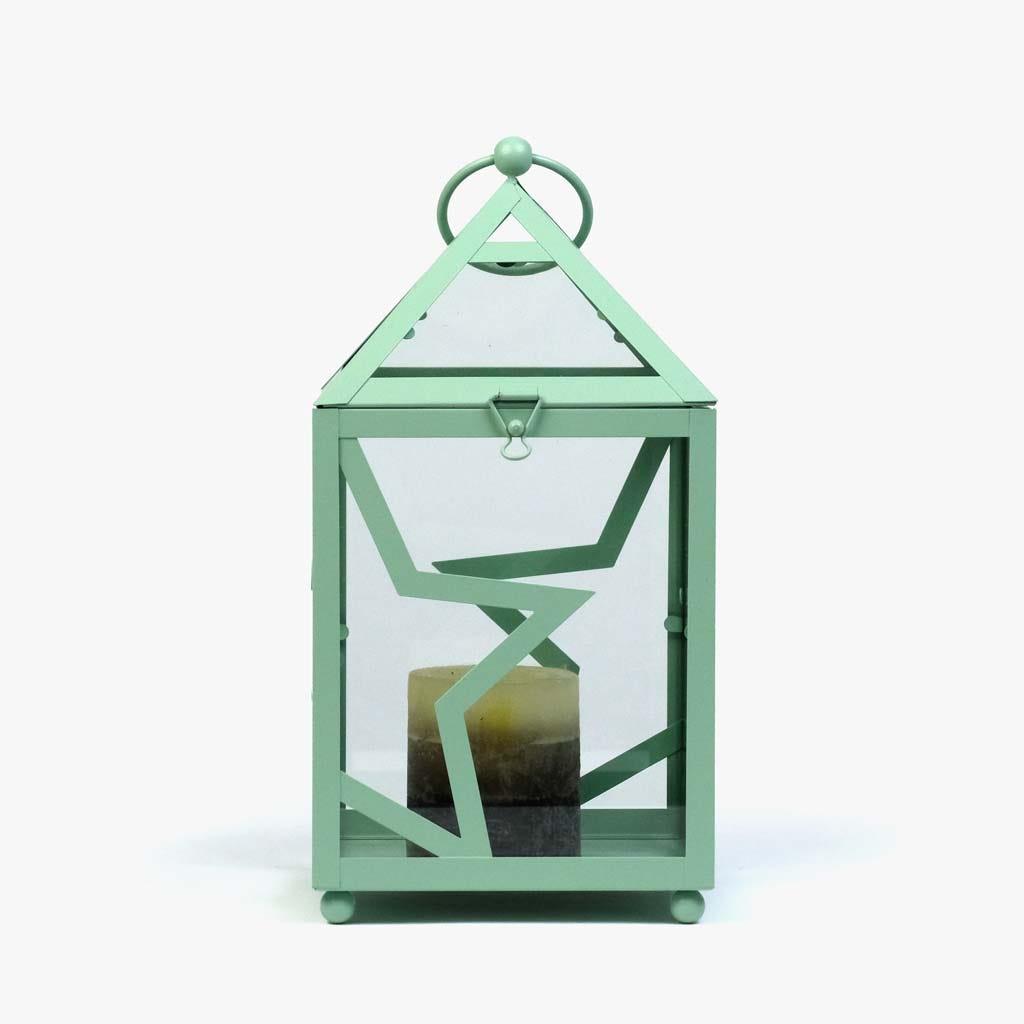 Lanterna Estrela Verde 30 cm