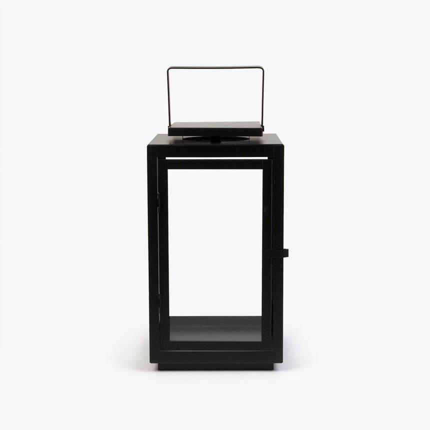 Lanterna preta 17x17x31 cm
