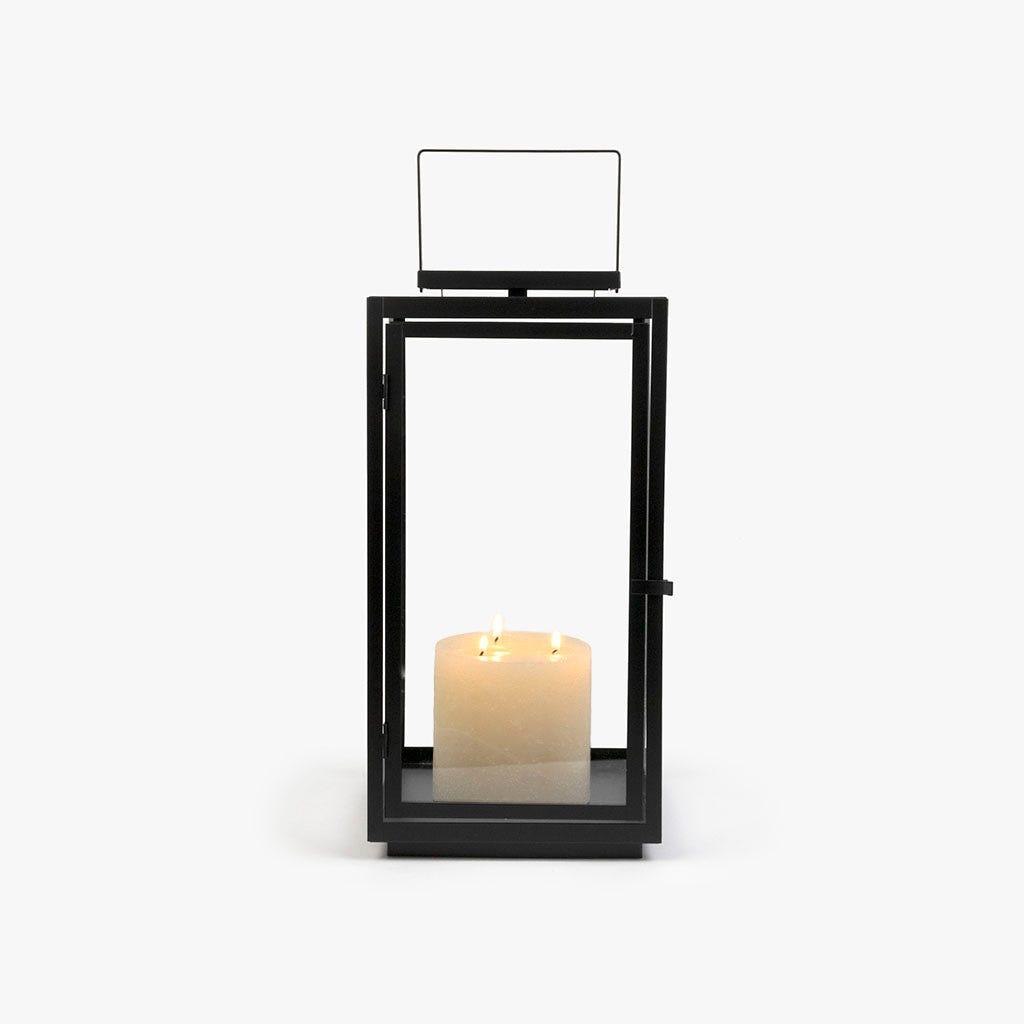 Lanterna preta 22x21x43 cm