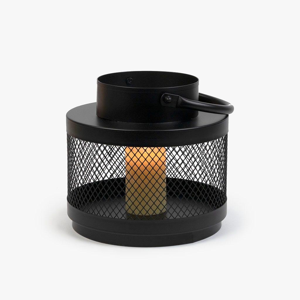 Lanterna preta d19x18 cm