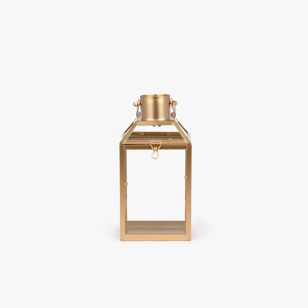 Lanterna dourada 12x11x22 cm