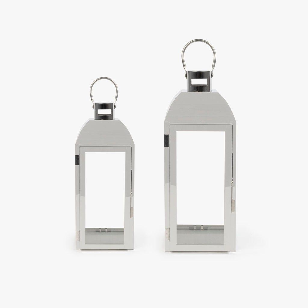 Lanterna prateada 15x14x36 cm