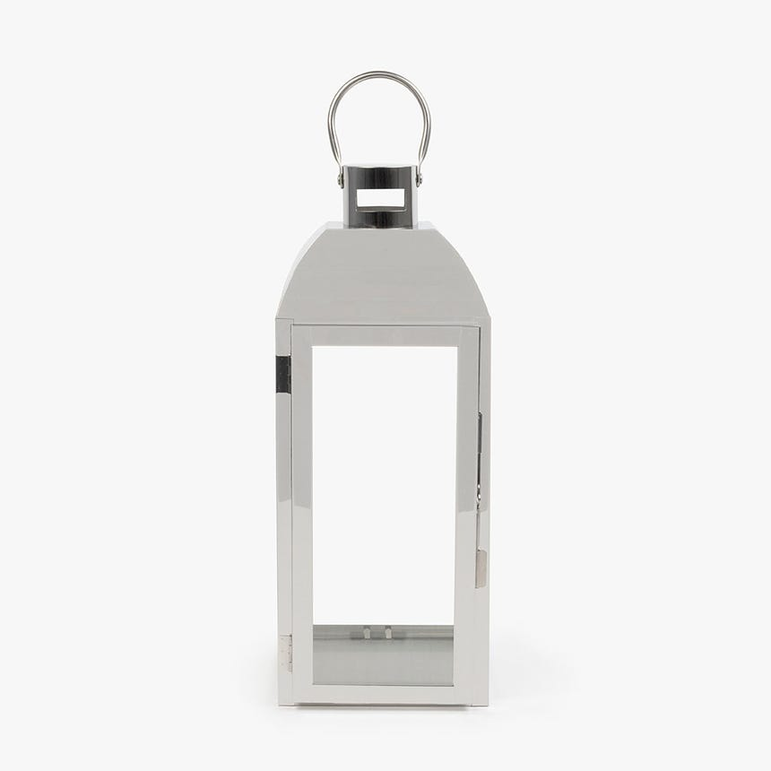 Lanterna prateada 19x18x47 cm