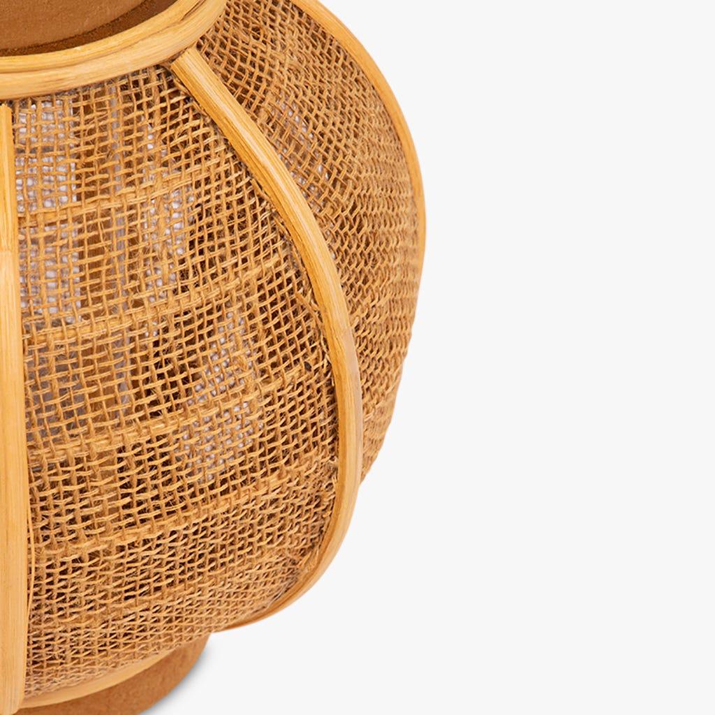 Farolillo Asia Rattan d22x23 cm