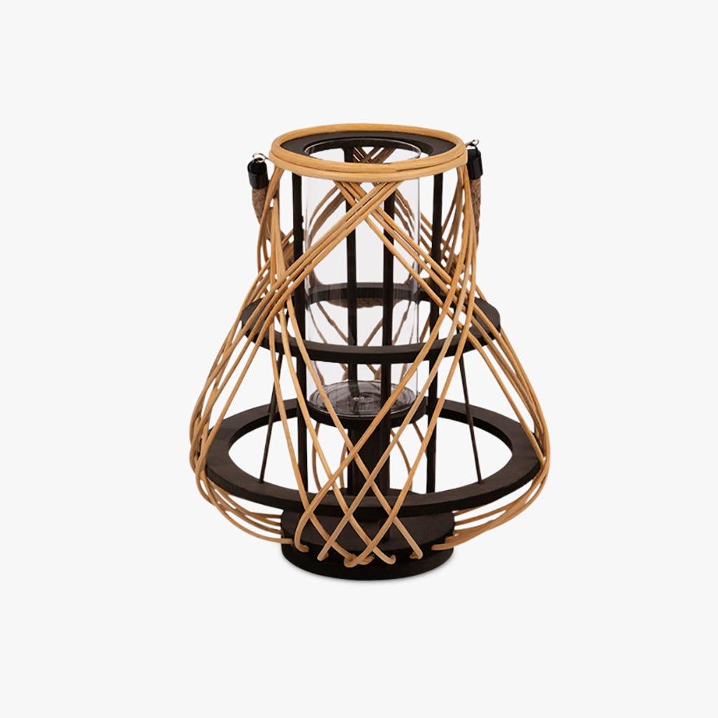 Lanterne Asia Rattan d28x32 cm