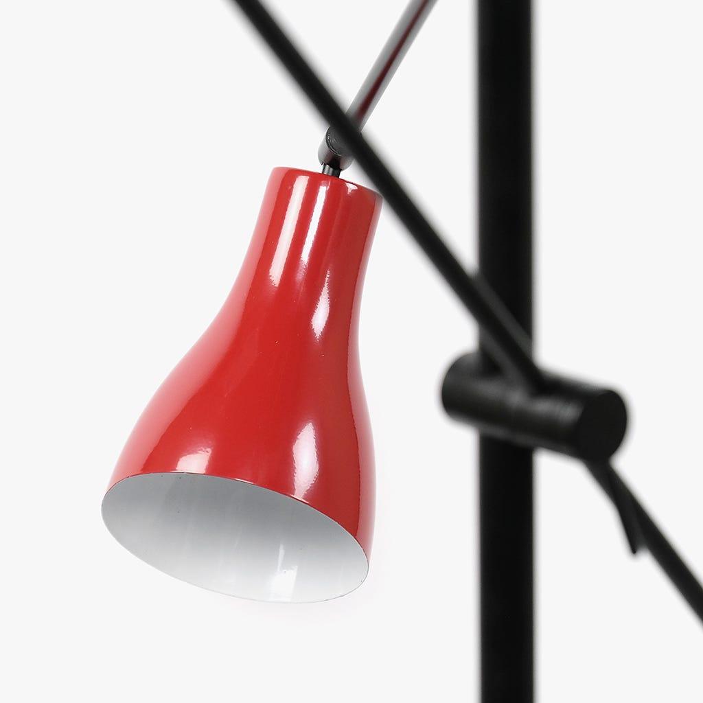 Lámpara de Pie Wadin 3 Luces Rojo