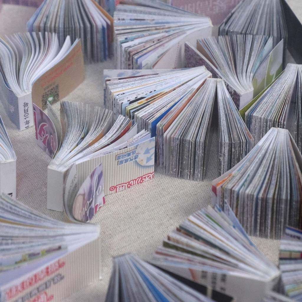 Quadro Livros em Leque 80x80 cm