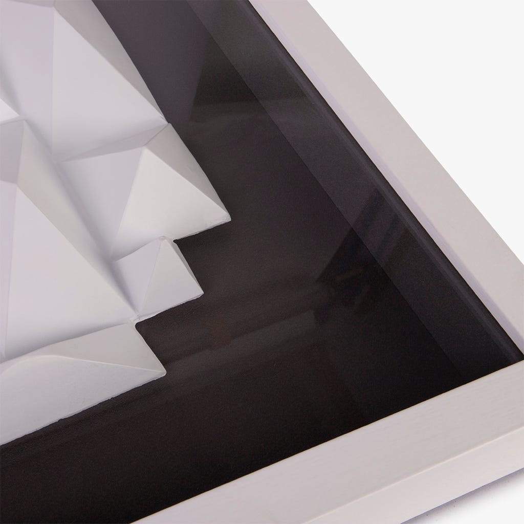 Cadre Contemporary Blanc et Noir 60x60 cm