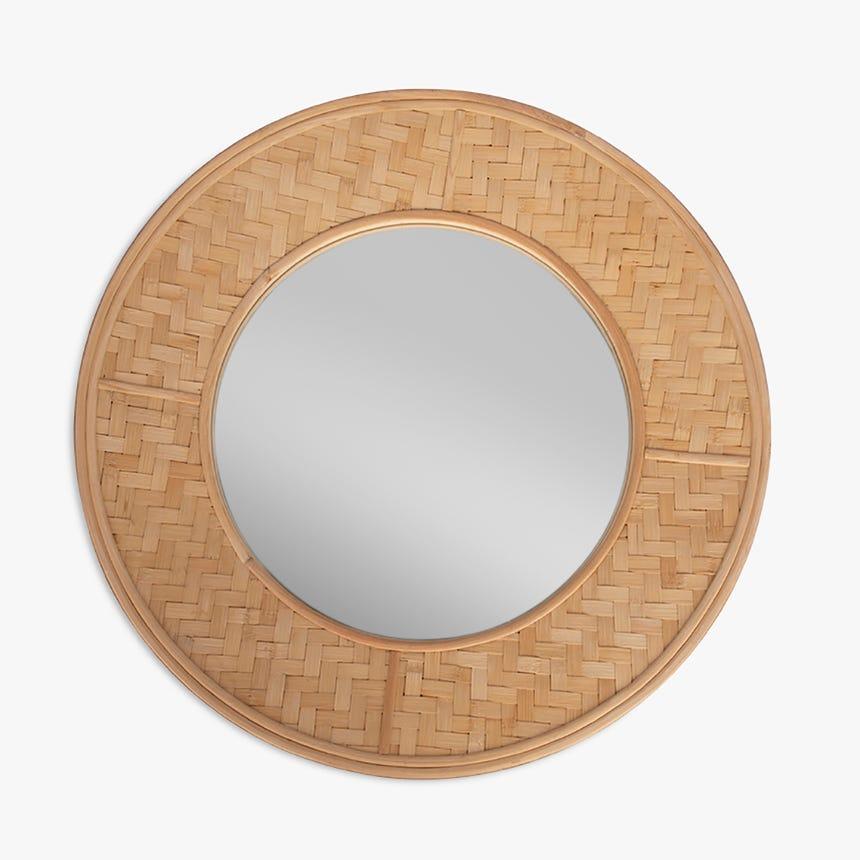 Espejo Tarim Zig-Zag Bambú 77,5 cm