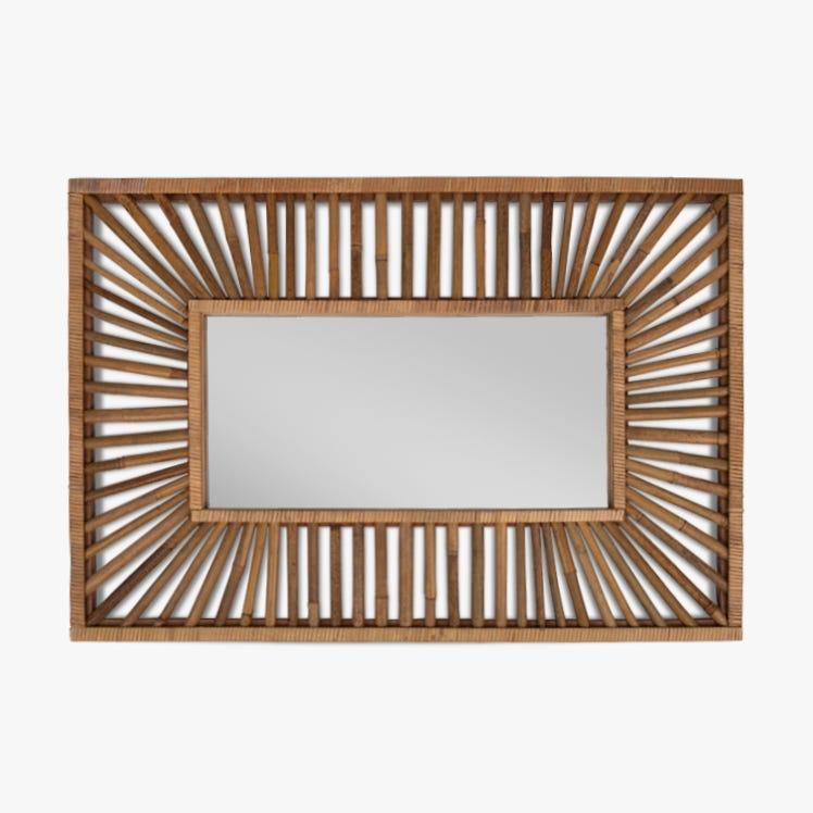 Miroir Tarim Bambou 66x95 cm