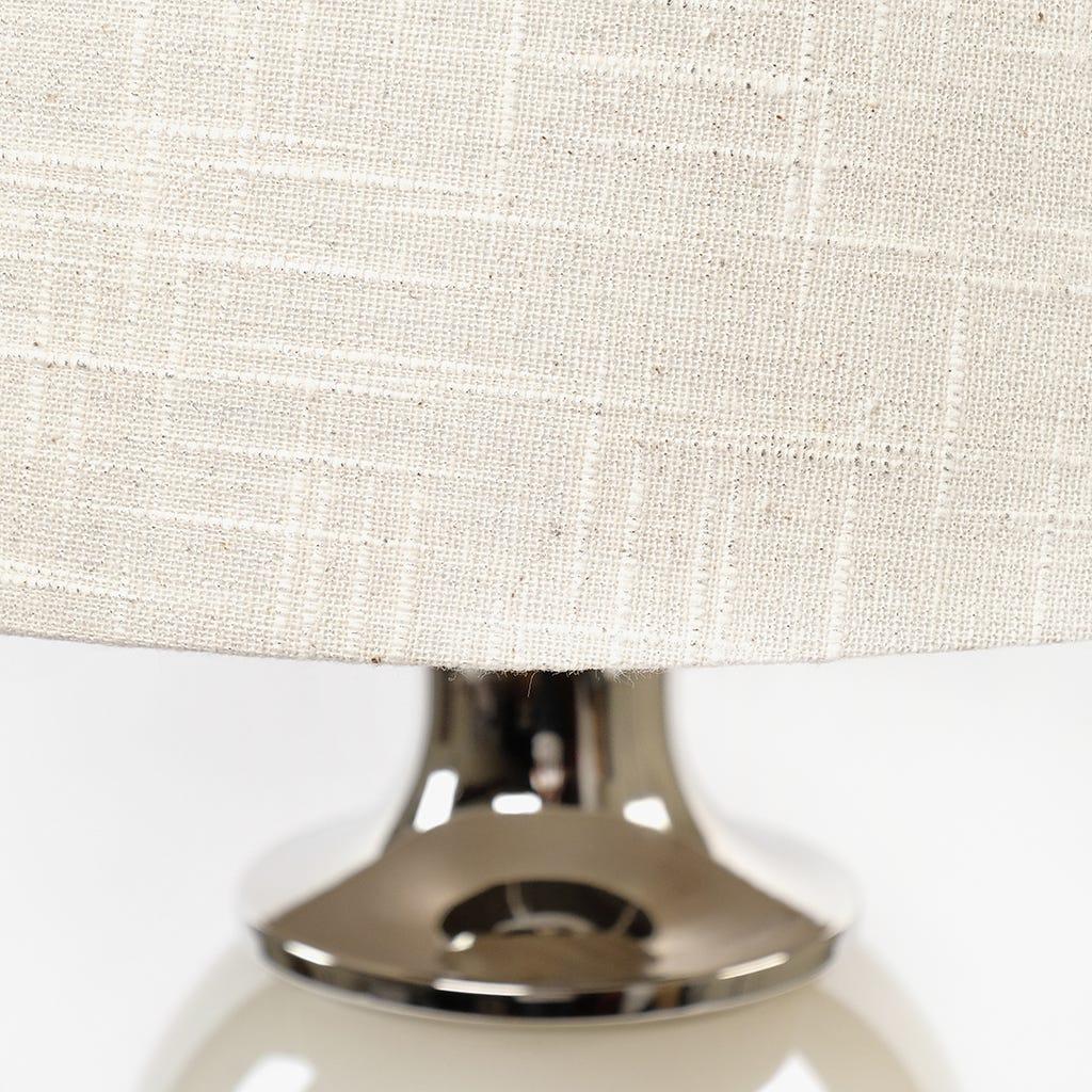 Candeeiro de Mesa Pérola Branco D:52x15 cm