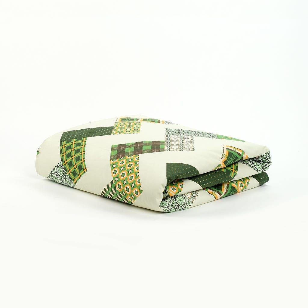 1 Saco de Edredão + 1 Fronha Patchwork Verde 140x200 cm