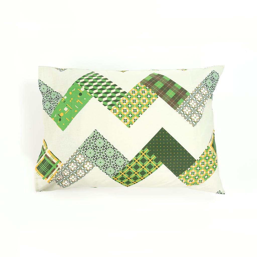 1 Saco de Edredão + 2 Fronhas Patchwork Verde 240x220 cm